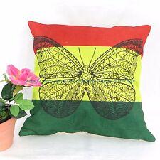 US SELLER - pillow cushion covers Rasta reggae butterfly cover pillowcase