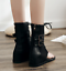 Thong Back Zip Ankle Boots Strappy Low Hidden Wedge Heel Womens Shoes Sandals Sz