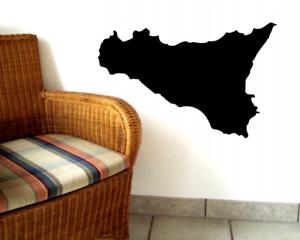 Samunshi Sizilien Wandtattoo Insel  25 Farben 7 Größen