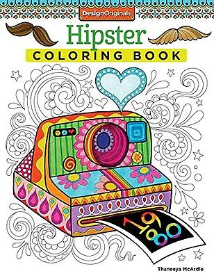 Hipster Coloring BookDesign Originals By Thaneeya McArdle Paperback NEW