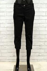 Bermuda-MARLBORO-CLASSICS-Donna-Taglia-42-Corto-Shorts-Jeans-Woman-Cotone-Nero