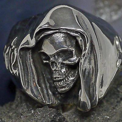 Edel Dr. Skull Bikerring Skullring 925 Silberring 69 Biker Santa Muerte Gothic