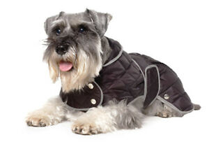 Dog-Jacket-Coat-Black-Diamond-Quilt-Extra-Warmth-Muddy-Paws-Ancol