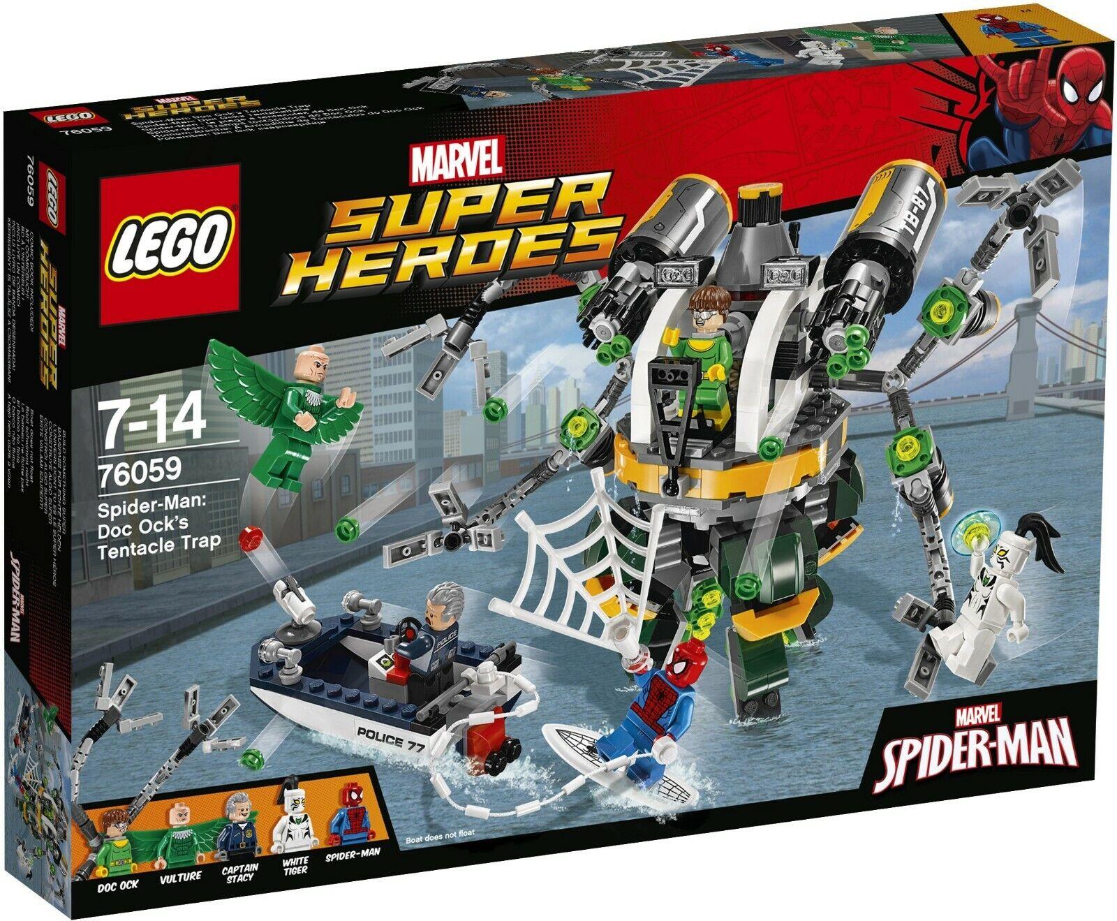 LEGO Marvel Super Heroes 76059 Spider-Man  Doc Ock's Tentacle Trap - NISB, Rare