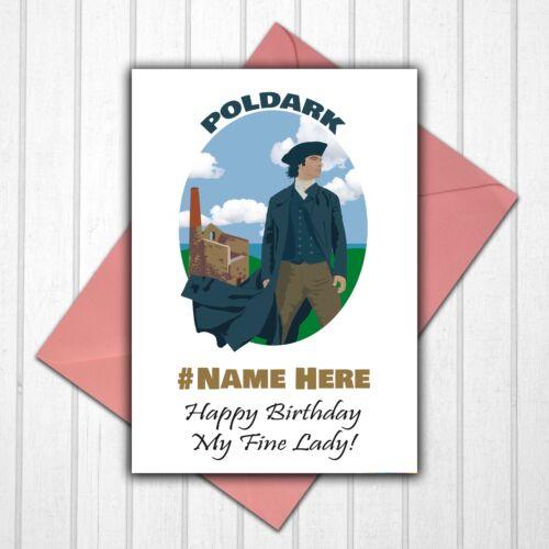 Poldark Ross Poldark Personalised Birthday Card Any Name//Age//Relative