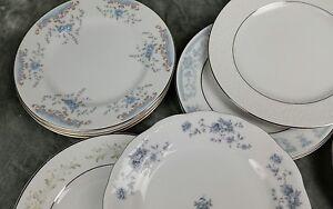 MISMATCHED-CHINA-LARGE-LOT-21-CAKE-DESSERT-BREAD-PLATES-VINTAGE-WEDDING-CP2a