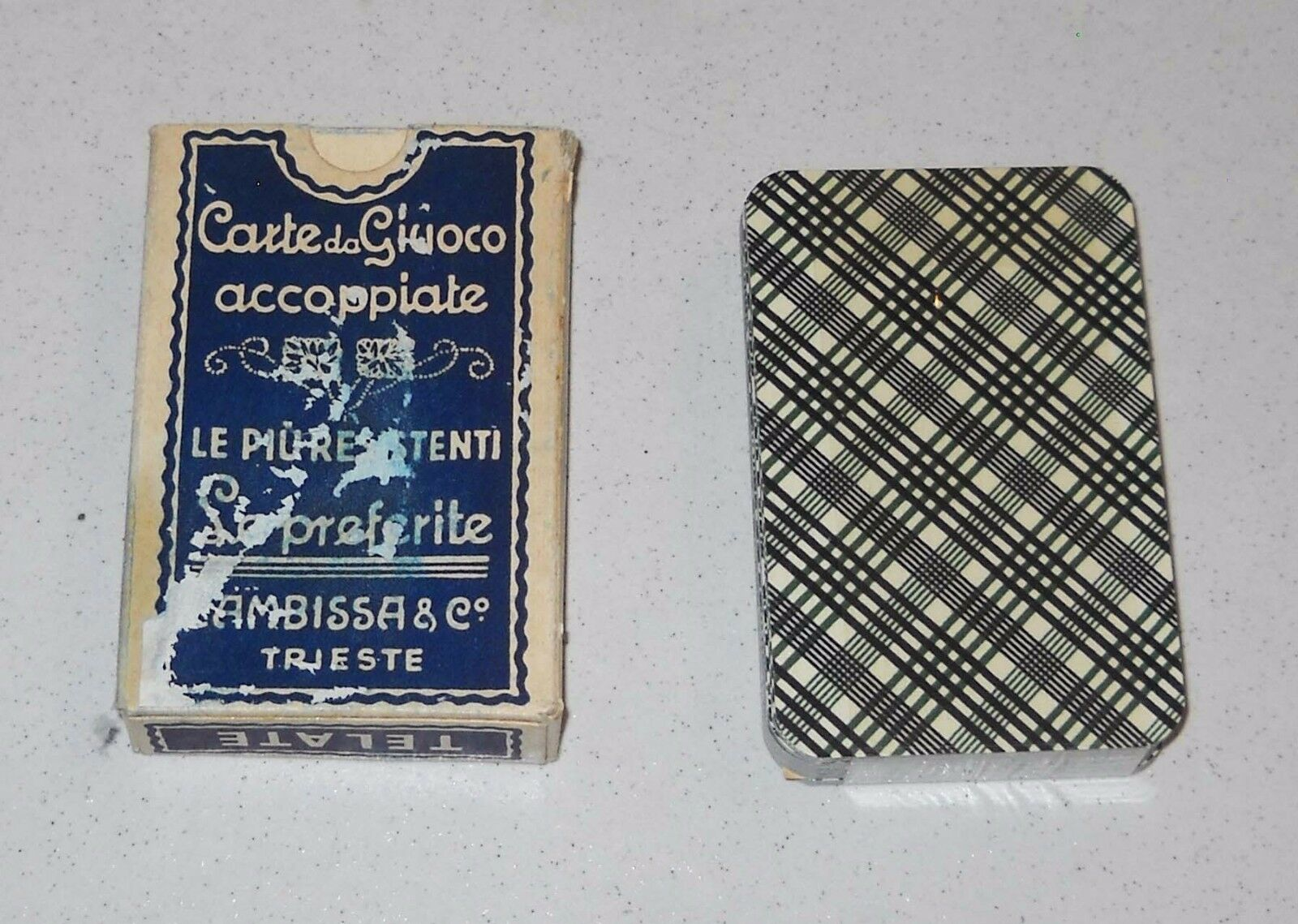 Cartes à à à jouer jeu PIÉMONT 90 PROJET CAMBISSA & C Trieste 1959 à Écosse 974e82