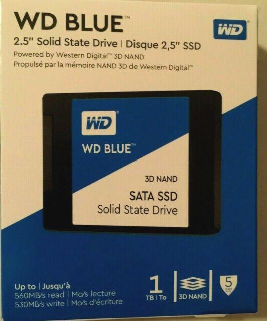 WD Blue 1TB 3D NAND SATA III 2.5 in. Internal SSD Brand New Sealed