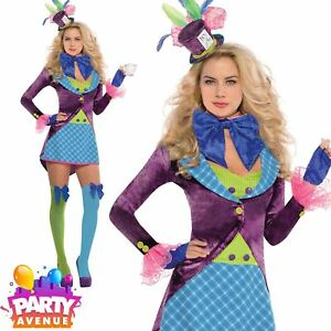 d534f27a81b Dettagli su MAD Hatter Costume Vestito Da Donna Taglie Forti 8-16 Alice nel  paese delle meraviglie- mostra il titolo originale
