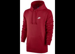 Nike zu 657 Details University Club Fleece Sportswear Hoodie Pullover Red 804346 Men's IHD2eWYbE9