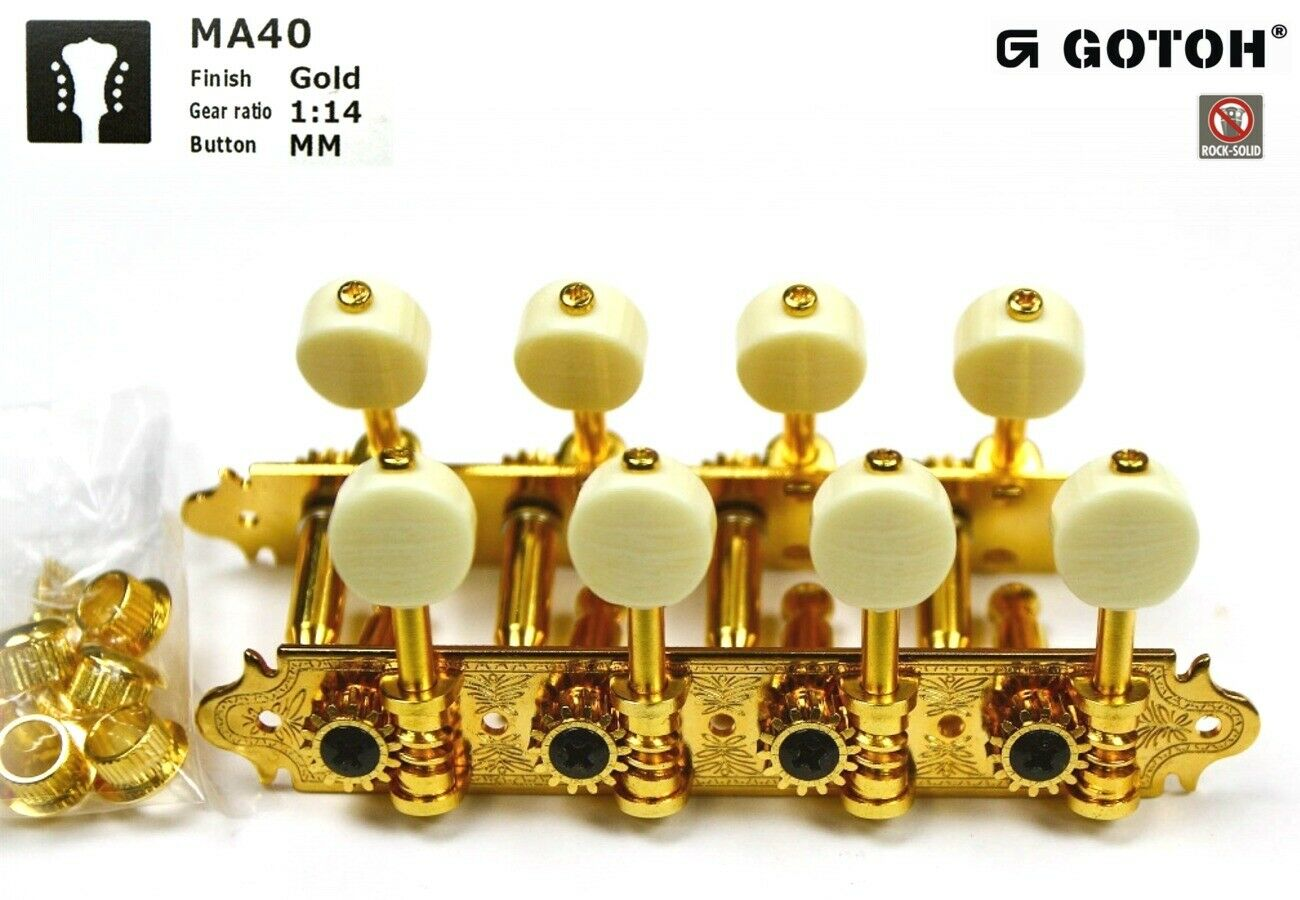 Gotoh MA40-G-MM Mandolin Tuner set (4L + 4R)