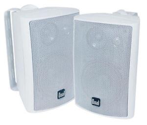 Dual-200-Watts-Weather-Resistant-Indoor-Outdoor-3-Way-Speaker-White