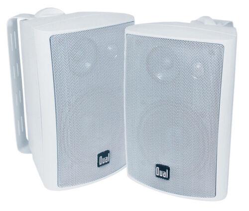 White Dual 200 Watts Weather Resistant Indoor//Outdoor 3-Way Speaker