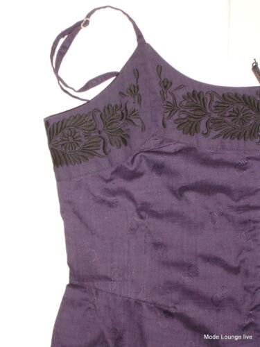 NOA NOA SHIRT Bluse Stickerei grün lila CIRCLE COTTON SALON Top
