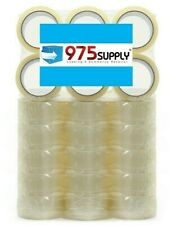 36 Rolls Package Box Carton Sealing Tape 16mil 2 X 55yd Crystal Clear