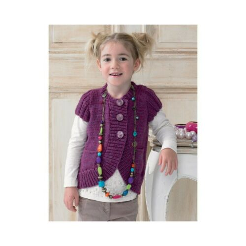 Knitting Pattern James C Brett JB153 Children/'s Chunky Cardigan Jumper