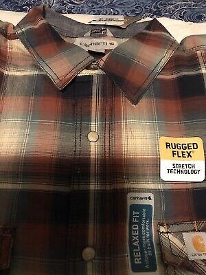 Carhartt Men/'s Bellevue Long Sleeve Plaid Button Down Shirt 101489 NEW!