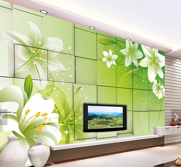3D Lily Squid 599 Wallpaper Murals Wall Print Wallpaper Mural AJ WALL AU Kyra