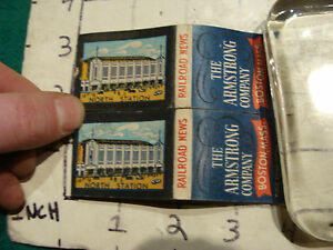 Details about vintage Matches 1930's or 40's: 2 The Armstrong Co  NORTH  STATION BOSTON News
