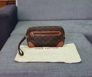 Authentic-LOUIS-VUITTON-Monogram-Pochette-Marly-Dragonne-26