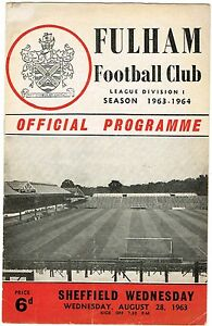 Fulham v Sheffield Wednesday 196364 Division I  Good condition - Cardigan, United Kingdom - Fulham v Sheffield Wednesday 196364 Division I  Good condition - Cardigan, United Kingdom