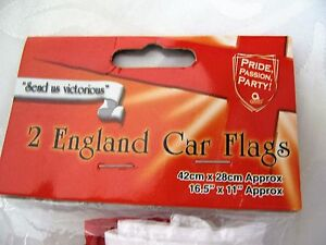 2 Car Window England Flags St Georges Cross Football Supporter Celebration Party - <span itemprop=availableAtOrFrom>Haltwhistle, United Kingdom</span> - 2 Car Window England Flags St Georges Cross Football Supporter Celebration Party - Haltwhistle, United Kingdom