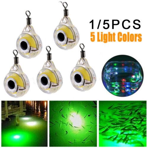 1PC LED Fishing Lure Night Light Underwater Attracting Fish Lamp Fishing Bait