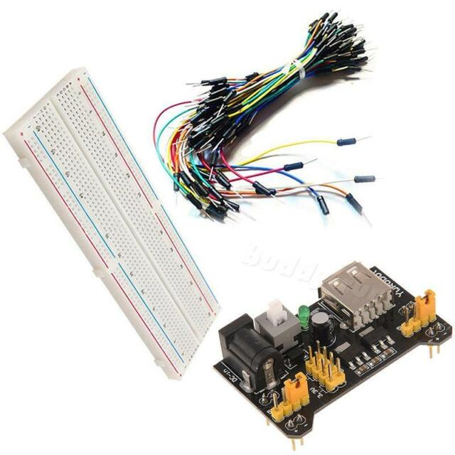 MB-102 830 Point Solder PCB Breadboard+Power Supply+65pcs Jump Cable Wires BDRG
