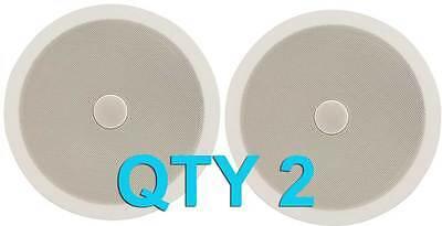 "2x Ceiling/Wall Speakers 8"" 120W 60W RMS C8D 952.543 Directional Tweeter"