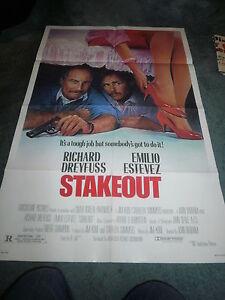 STAKEOUT(1987)RICHARD DREYFUSS ORIGINAL ONE SHEET POSTER UNUSED+