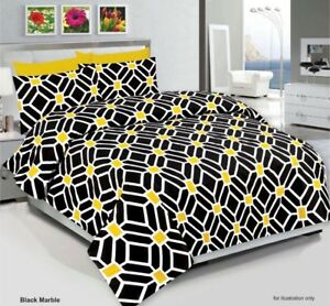NEW-Duvet-Cover-Set-Bedding-Set-With-Pillow-Cases-amp-Fitted-Sheet-All-Sizes