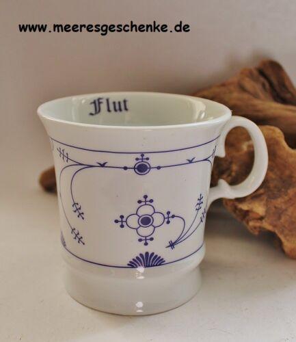 9,5 x 9,5 cm Indisch Blau Kapitänsbecher neutal mit Ebbe /& Flut Porzellan ca