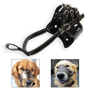 Seguridad-del-perro-BOZAL-BALA-regulable-Morder-ladridos-Mascar-CESTO