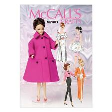 """McCALL'S SEWING PATTERN CRAFTS DOLL CLOTHES FOR 11 1/5"""" DOLL DRESS COAT  M7301"""