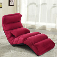 Folding Lazy Sofa Chair Stylish Sofa Couch Beds Lounge Chair W/pillow Us Stock
