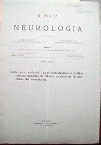1928-NEUROLOGIA-FIBRE-NERVOSE-E-NEUROPLASMA-DI-RENATO-CRISTINI-NAPOLI-AUTOGRAFO