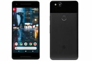 Google-Pixel-2-64GB-Just-Black-T-mobile-AT-amp-T-Unlocked-A-Stock