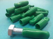 "1/2"" Rubber Bolt Cap Protectors Rod Tube Thread Finger Tip Pull 18 Cover Green"