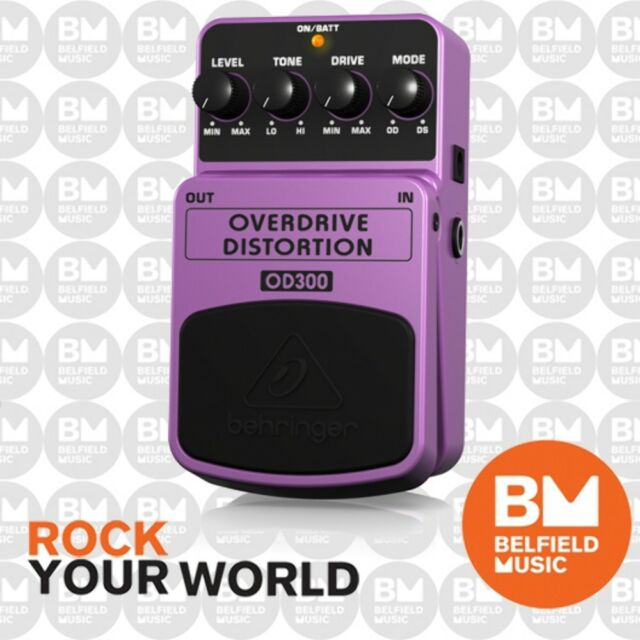 Behringer OD300 2-Mode Overdrive/ Distortion Effects Pedal OD-300 - Brand New