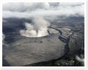 Kilauea Volcano Summit Caldera Large Ash Plume 2018 Silver Halide Photo