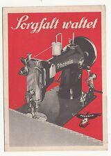 Kleines Prospekt Phoenix 81 Nähmaschine mit Zickzack um 1935 !(D