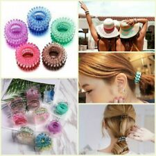 3x Elastic Spiral Coil Hair Ties Ponytail Holders Phone Cord Hair Ring Rope Band