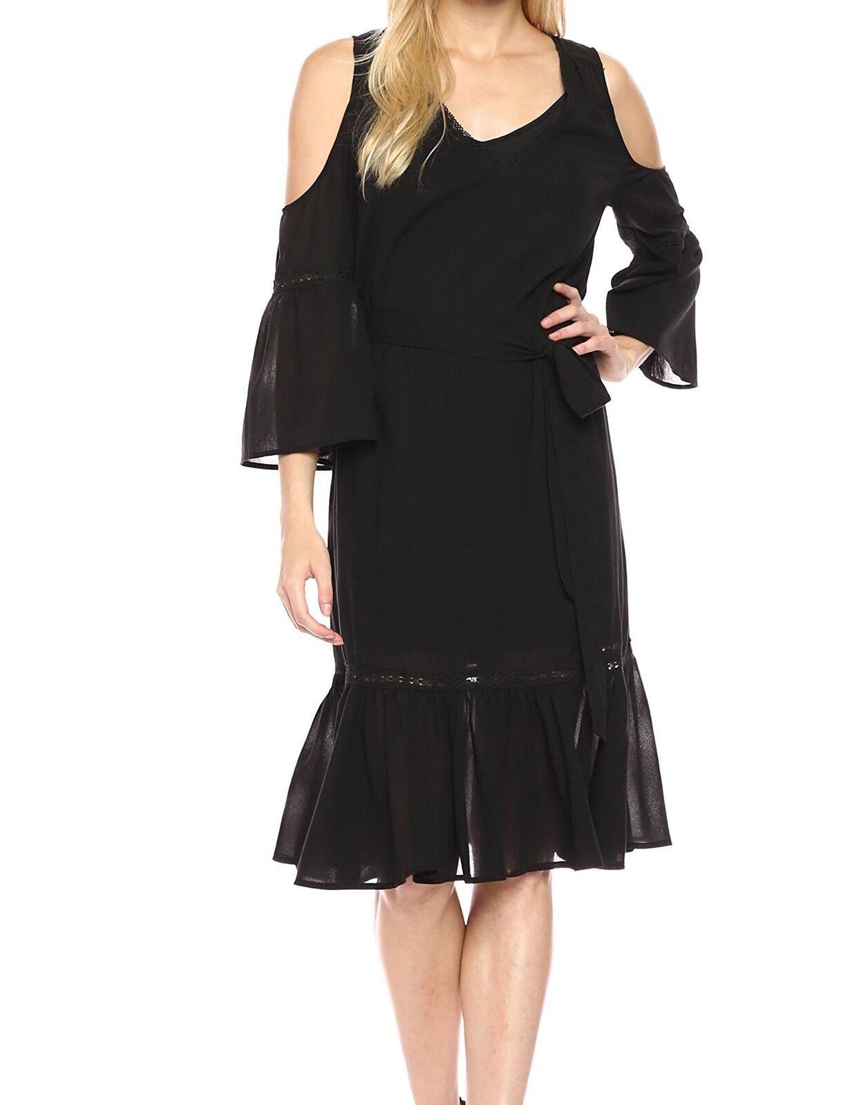 Trina Turk NEW schwarz Grand Dame Cold Shoulder Sheath Dress New sz 2