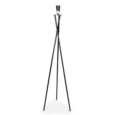 Camden Tripod Floor Lamp Black / White / Chrome / Copper Base + 4 Shade Colours