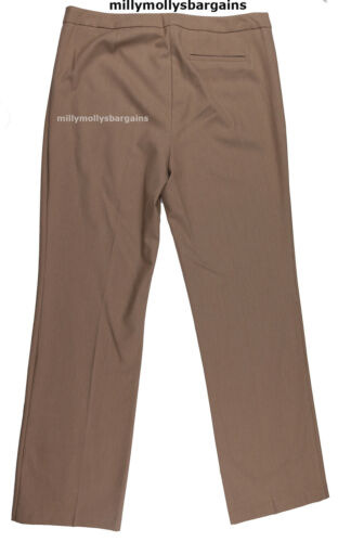 New Womens Marks /& Spencer Brown Straight Leg Trousers Size 20 18 16 14 12 10