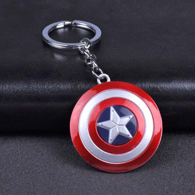 Marvel Avengers Captain America Shield Alloy Key Chains Keychain Keyfob Keyring