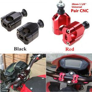 "1 1/8"" 28mm Universal Motorcycle Handlebar Mount Riser Clamp Cnc Aluminium Fine"