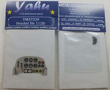 Modelli yahu yma7229 1/72 PE HEINKEL HE 112B CRUSCOTTO