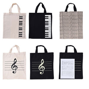 Fashion Portable Music Score Bag Musical Instrument Cotton Handbag Totes Shopper
