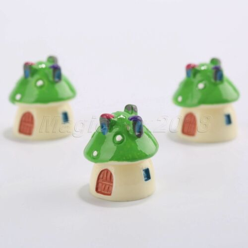 Mini Mushroom House Plant Pot Garden Ornament Dollhouse Figurine Bonsai Decor